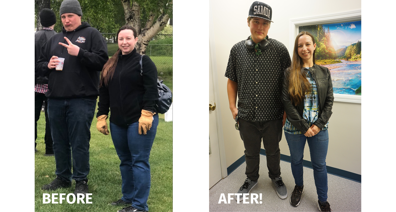 Mother Son Weight Loss Success